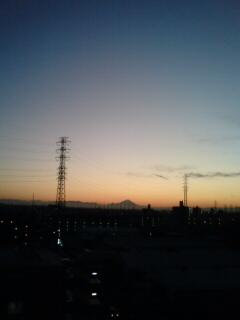 引越し先の夕焼け